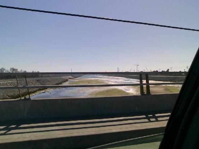 Santa Ana River from the Hamilton Street Bridge